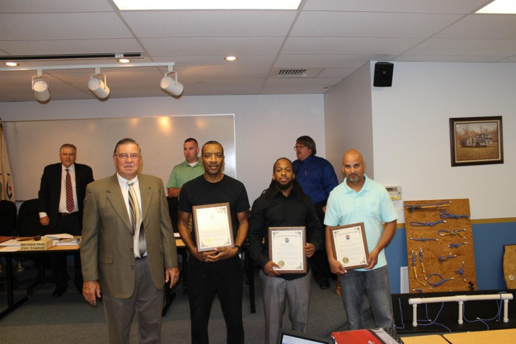 Burlington Twp. Fire Department Honors Citizen Heroes