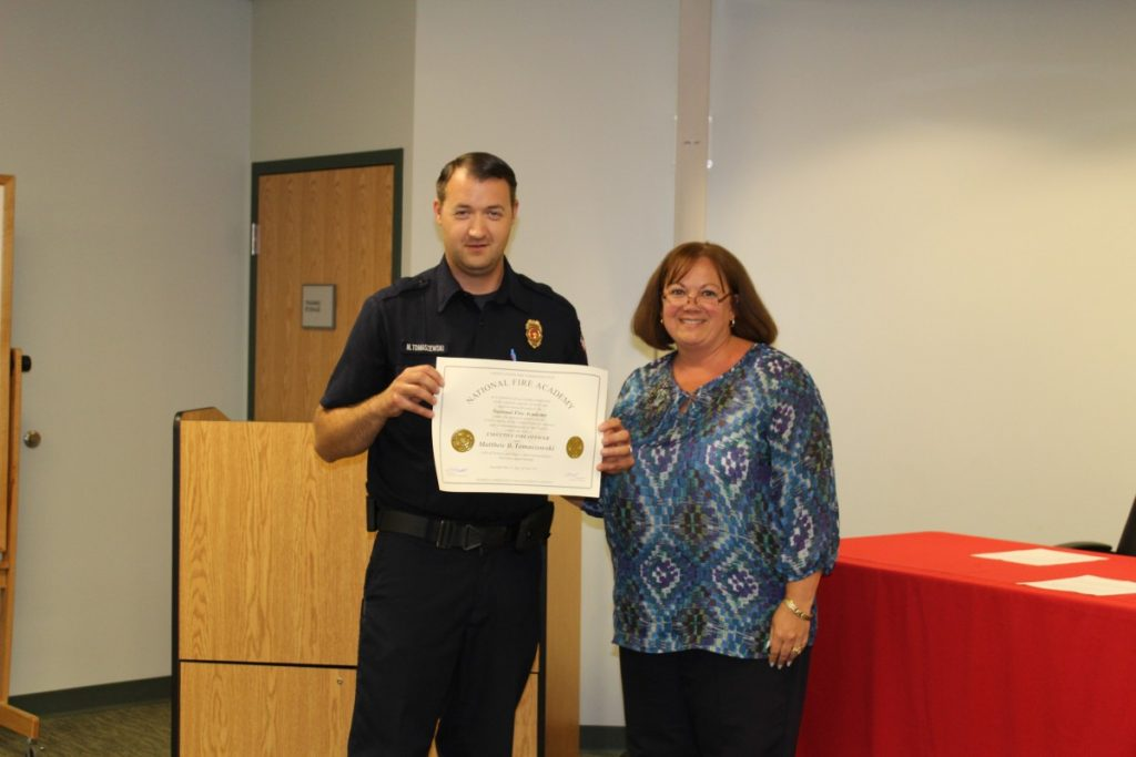 Congratulations to Fire Official Tomaszewski
