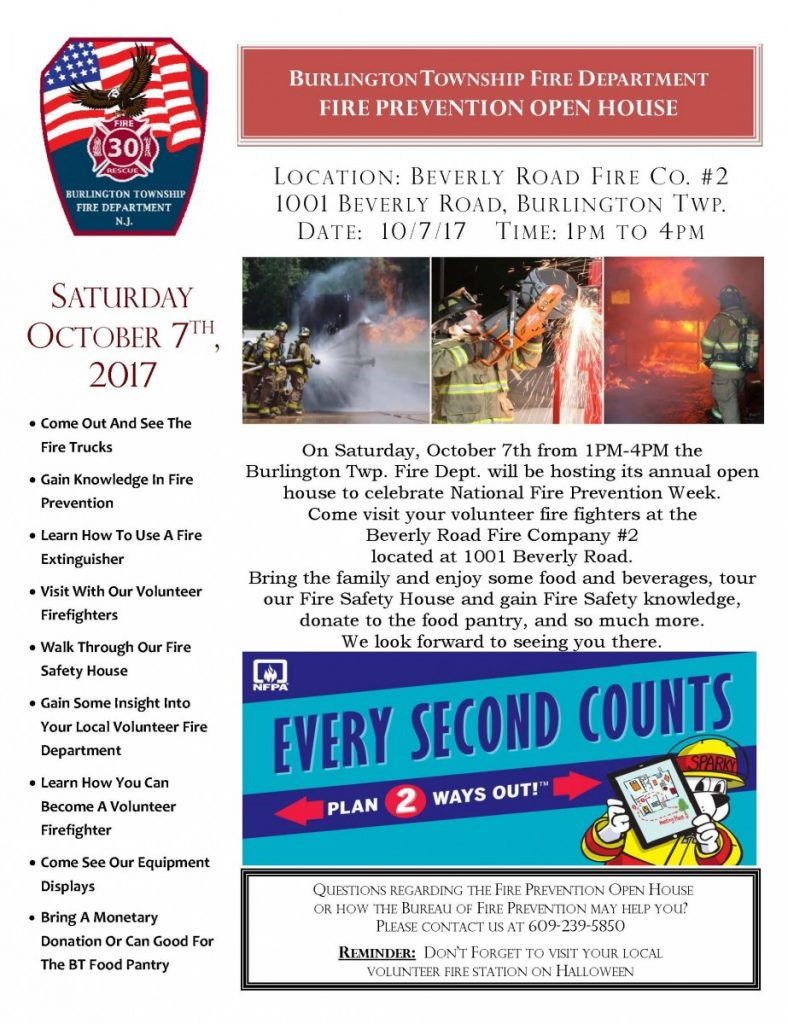 Fire Prevention Open House October 7, 2017