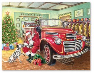 Merry Christmas, Happy Holidays, and Happy New Year from the members of the Burlington Township Fire Department