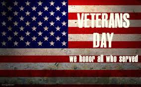 Veteran's Day November 11, 2018