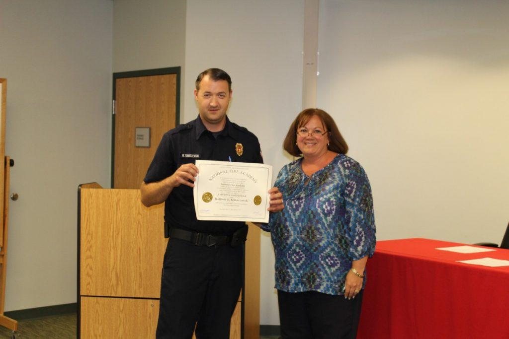 Congratulations to Fire Official Tomaszewski